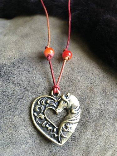 Equestrian western necklace