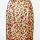Women's full-length DRESS ~ Colors are Red Gold Green Cream ~ See measurements