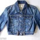 Girls CHARLOTTE Denim JACKET w/ Metal Studs & 6 front buttons Girls / Juniors S