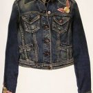 Girls GUESS Denim JACKET Floral Embroidery & 6 front buttons Girls / Juniors XS