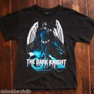 Boys DARK KNIGHT T-SHIRT SIZE 2XL 18 ~ Black Blue Metallic Gray ~ COTTON T SHIRT