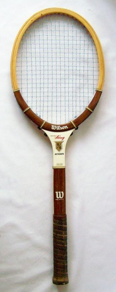 Wilson BILLIE JEAN KING Autograph Tennis Racket GRIP SIZE 4 1/2  Vintage Racquet