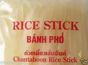 Chantaboon DRIED RICE NOODLES 6x16 oz = 6 lbs NO artificial ingredients PAD THAI