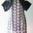 Girls Juniors MINI DRESS Semi-formal Black & White Floral w/ 2 Black Satin Bows
