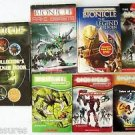 LOT 8 BIONICLE BOOKS + DVD 1 Hardcovr + 6 Softcovr + 1 Sneak Peek DVD Gr 2 3 4 5