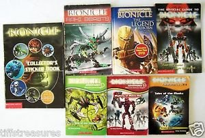 LOT 8 BIONICLE BOOKS + DVD 1 Hardcovr + 6 Softcovr + 1 Sneak Peek DVD Gr 2 3 4 5