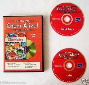 Prentice Hall CHEM ALIVE ! 2 DVD Set LABS & FIELD TRIPS Grade 6 to 12 Homeschool