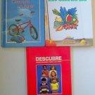 Children's Books Spanish Lot 3 Aventuras Conozco un lugar & Descubre Grade 3 4 5