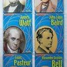 Scientist Inventor Biography 6 BOOK Pasteur Bell Watt Babbage Darwin Baird Gr3-5