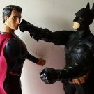 "LOT of 2 XL BATMAN & SUPERMAN Action Figure Doll DC  30"" TALL & 31"" TALL Fight !"