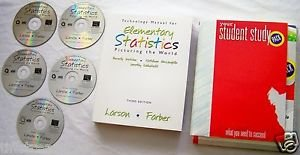 ELEMENTARY STATISTICS : Picturing the World 3rd Third Edition + CD +5 CD-ROM Set