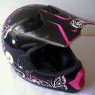 FOX Tracer Pro Jr Motocross Racing Helmet Pink Black KS 50cm Kids Youth NOcracks