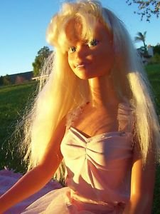 MY SIZE BARBIE DOLL Mexico 1992 Body 1976 Head 3 FEET TALL Blonde Hair Blue Eyes