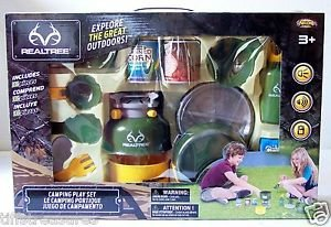 CAMPING PLAY SET Toy by Realtree ~ Pretend Play 16 Piece Set BOYS & GIRLS ~ NEW