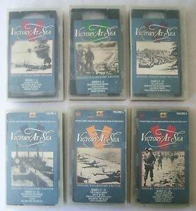 Lot of 6 VHS NAVAL WARFARE HISTORY series MANDALAY RABAUL MELANESIAN WAR VeryGD+