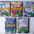 Lot of 5 Kids Children DVD set SESAME STREET + DISNEY + ABEL'S ISLAND etc. VryGD
