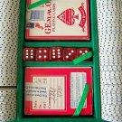 POKER SET Casino CHIPS 2 Decks of Cards 5 PIECE DICE DIE Aluminum Case w/ Handle