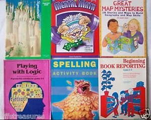LOT 6 WORKBOOK Study Guide MATH Geography READING Spelling LOGIC etc Grade 2 3 4
