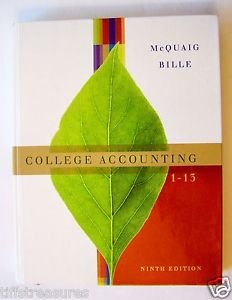 CENGAGE Learning COLLEGE ACCOUNTING 1 - 13 Ninth 9th Edition 9 MCQUAIG BILLE