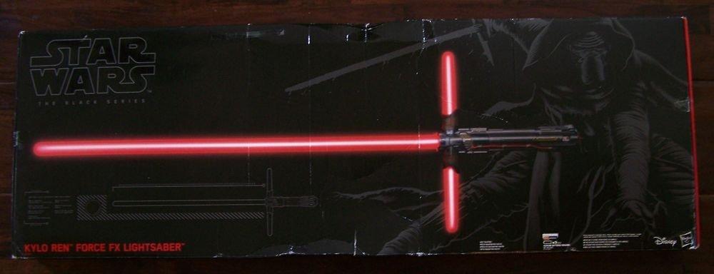Star Wars KYLO REN Black Series FORCE AWAKENS DELUXE LIGHTSABER Light Saber OPEN