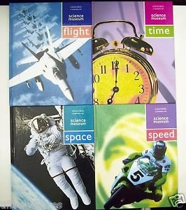 LOT 4 BOOKS Oxford Science Museum TIME + FLIGHT + SPACE + SPEED Hrdcv Gr 4 5 6 7