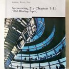 ACCOUNTING 21e Chapters 1-11  ( With Working Papers )  by Warren , Reeve & Fess