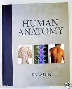 HUMAN ANATOMY by Kenneth S. Saladin Hardcover U.S. Student Edition HUMAN BODY