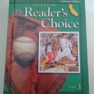 Glencoe LITERATURE The Reader's Choice COURSE 3 Student Ed. CA Edit GRADE 8 Gr 8