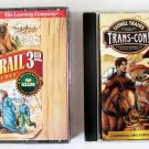 US History 2 CD LOT Games Software THE OREGON TRAIL & TRANS-CON! Ages 7 - Adult