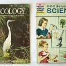 The How and Why Wonder Book ECOLOGY + BEGINNING SCIENCE ~ 2 BOOK LOT ~ 1960 1971