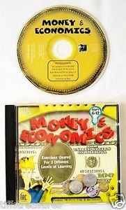 MONEY & ECONOMICS Childrens CD Software 3 DIFFERENT LEVELS OF LEARNING  6-12 yrs