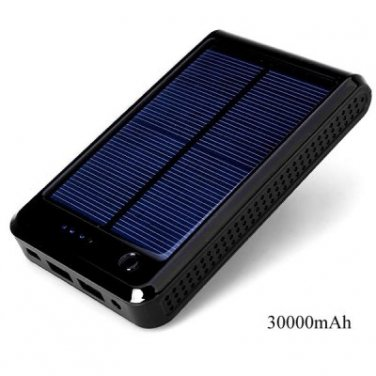 High Capacity 30000mAh Solar Mobile Power Bank Portable Charger for iPhone 4 / 4S / 5 / 5S / 5C