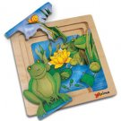 Chelona 3-layer Story Puzzle: Frog/ ages 3+ OUT OF STOCK