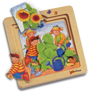 Chelona 3-layer story puzzle: Garden/ages 3+ OUT OF STOCK
