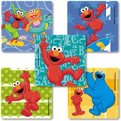 Smilemakers.com Stickers Elmo & Zoe