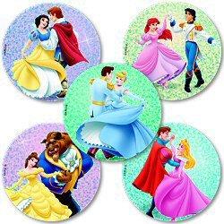 Smilemakers.com Stickers Disney Princess Glitter