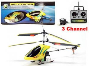 3 Channel R/C Helicopter Yellow