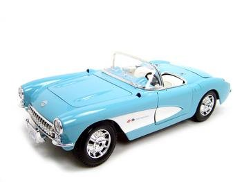 1957 Chevrolet Corvette Blue 1:18