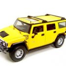 Hummer H2 Suv Yellow 1:18 diecast
