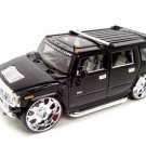 Hummer H2 Playerz Custom Black 1:18 diecast