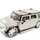 Hummer H2 Playerz Custom Grey 1:18 diecast