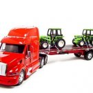 Peterbilt 387 w/ two Tractors 1:32 diecast