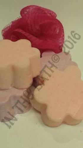Pink Grapefruit Salt Bars - Handmade Soap - 100% Coconut Oil and Sea Salt