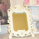 Shabby Vintage Chippy Cast Iron Mirror
