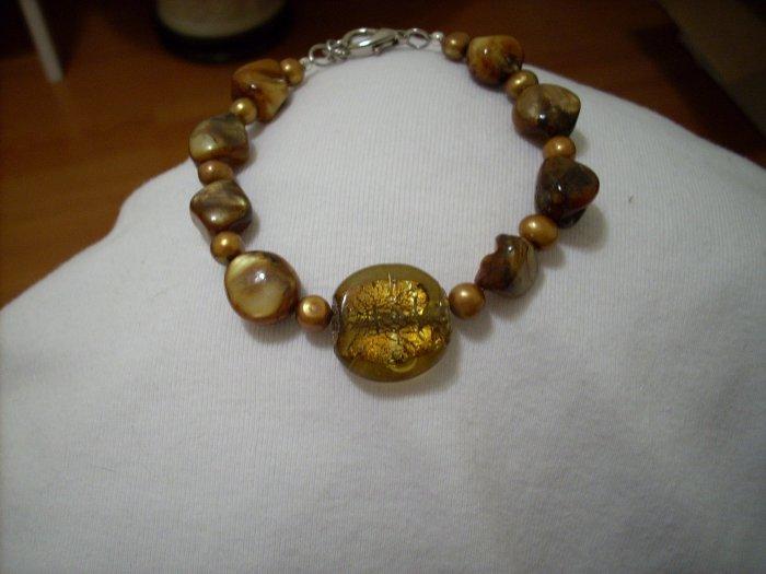 Handmade Golden Brown Bracelet