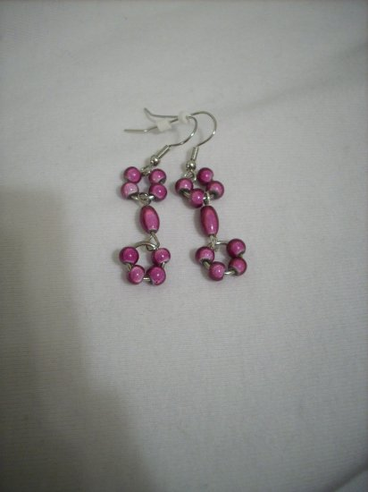 Handmade Purple Glass Bead Earrings