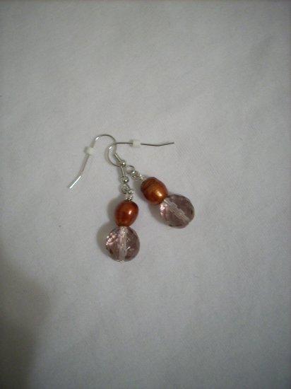 Handmade Faceted Amethyst & Copper Earrings