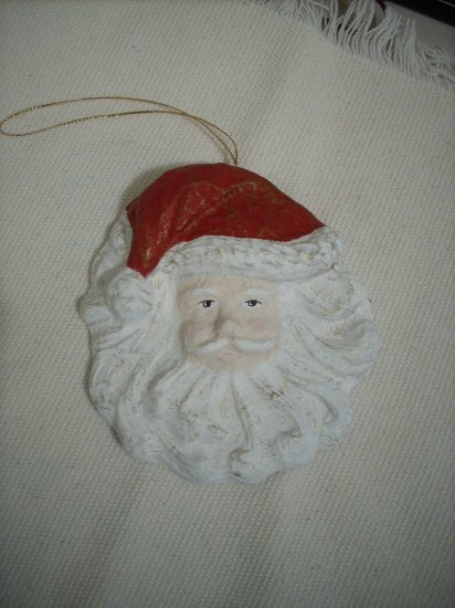 Hand painted Paper Mache Santa Clause Christmas Ornament