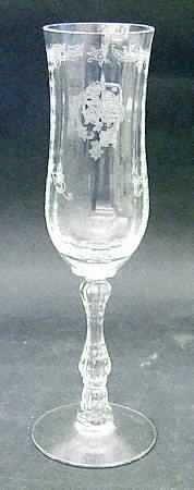 Fostoria Crystal Champagne Flute Navarre Pattern Clear