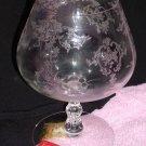 Fostoria Crystal Navarre Pattern Brandy Glass Clear